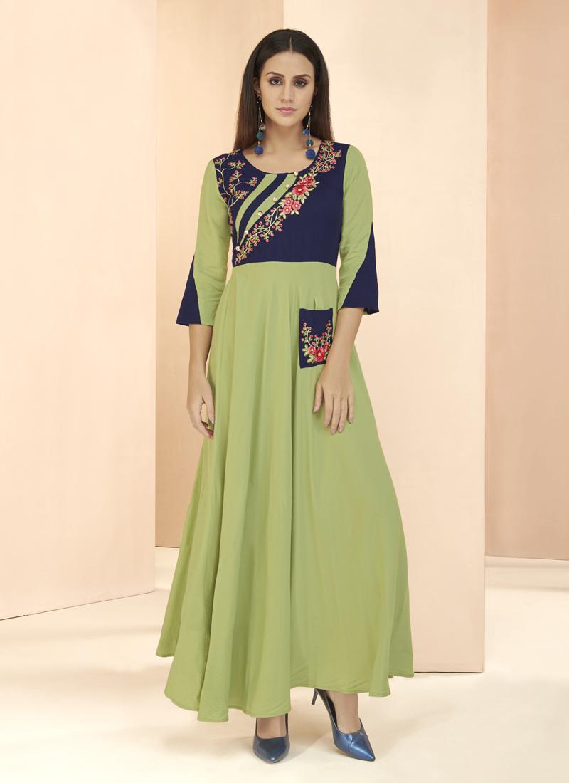 Ravishing Rayon Patchwork Designer Kurti