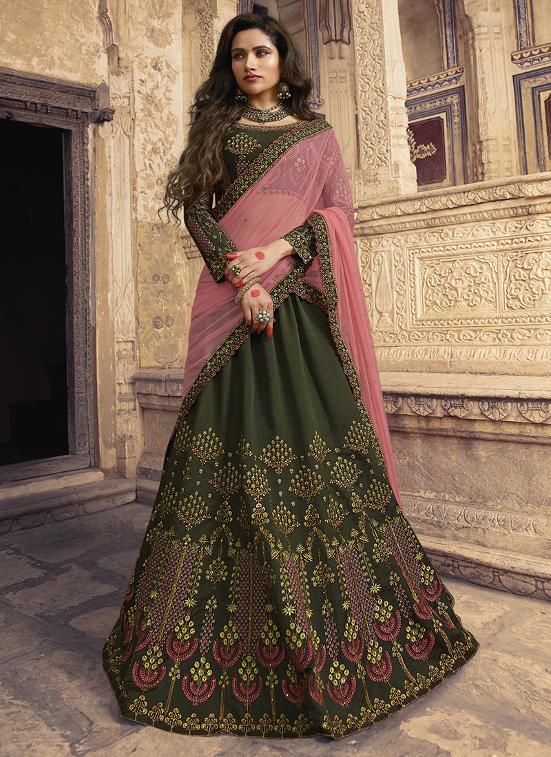 Scintillating Embroidered Silk Trendy Lehenga Choli