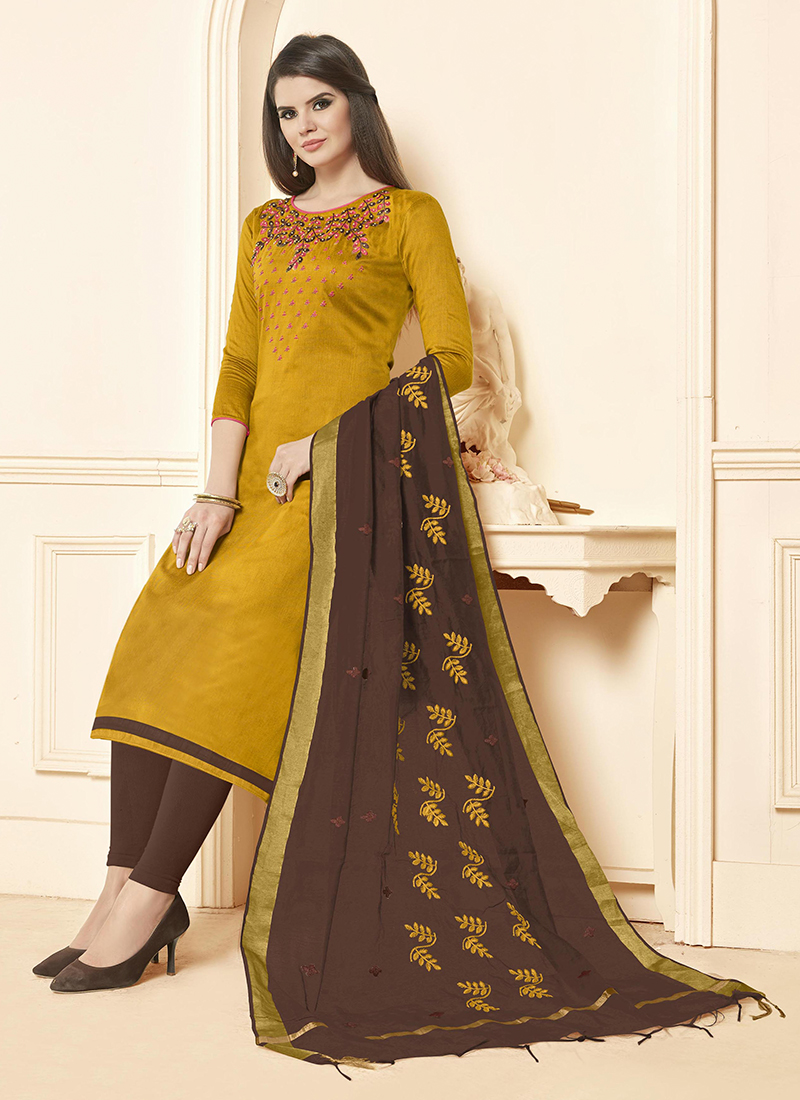 4d595b43c9 Sensational Embroidered Cotton Salwar Suit. Hover to zoom