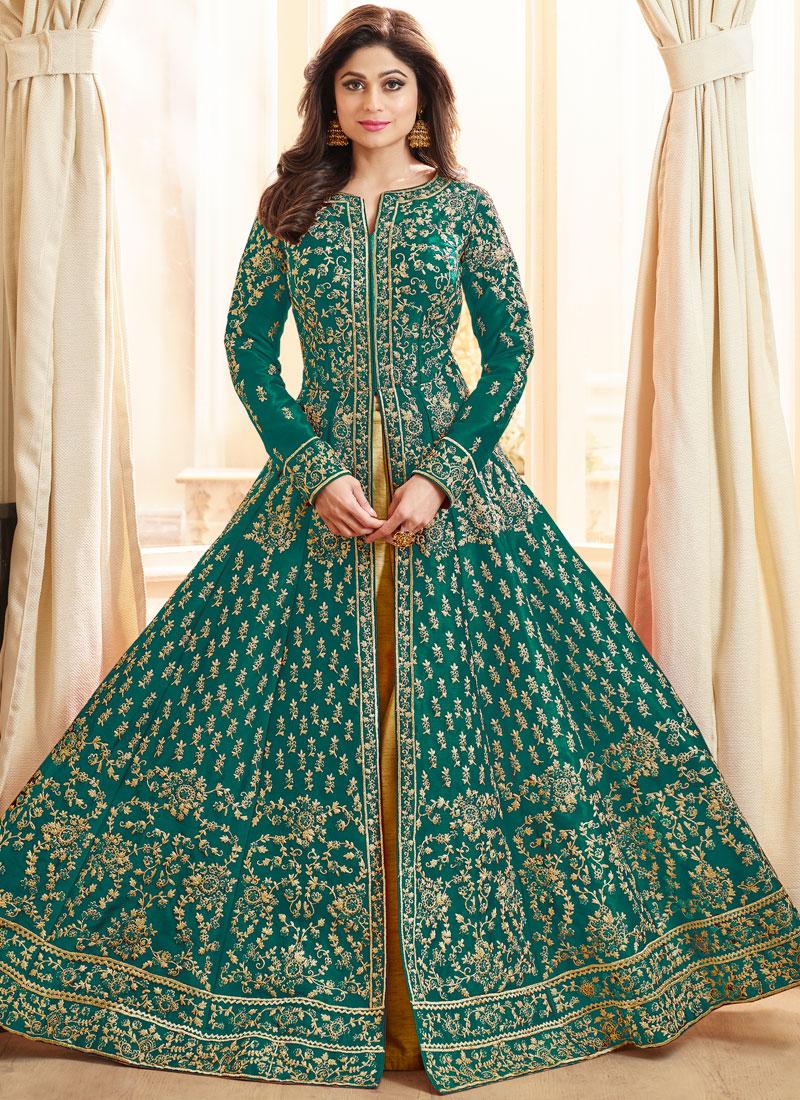 Shamita Shetty Art Silk Long Choli Lehenga