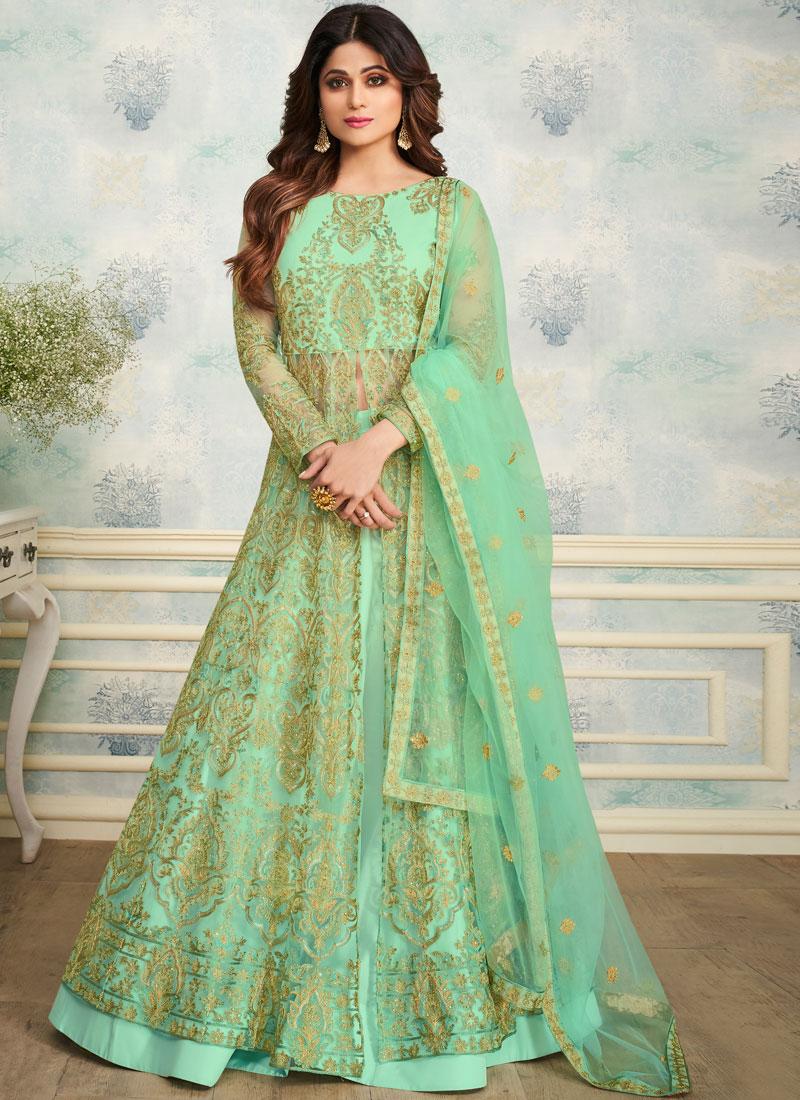Shamita Shetty Embroidered Trendy Designer Lehenga Choli