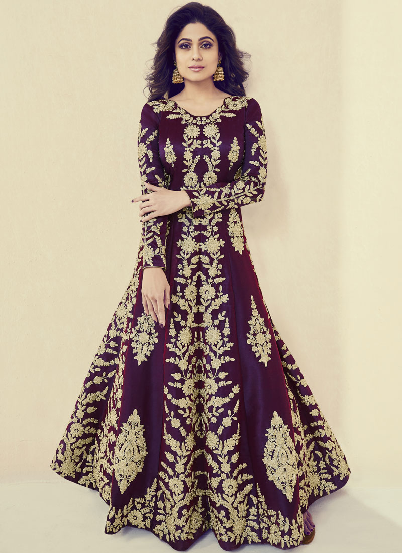 865935b90f Shamita Shetty Floor Length Anarkali Suit. Hover to zoom