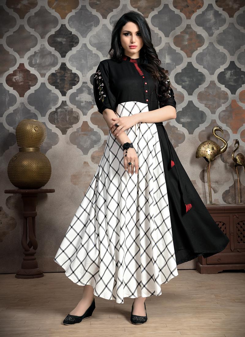 Sightly Fancy Khadi Party Wear Kurti