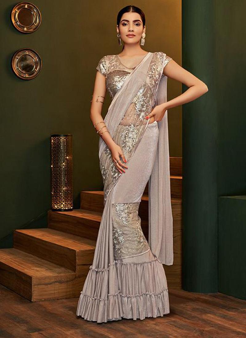 Silver Ceremonial Classic Designer Saree