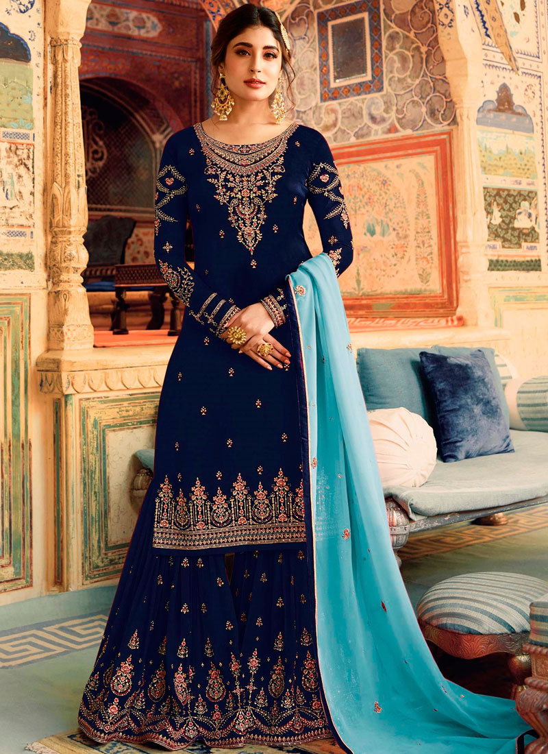 Simplistic Palazzo Designer Salwar Kameez For Party