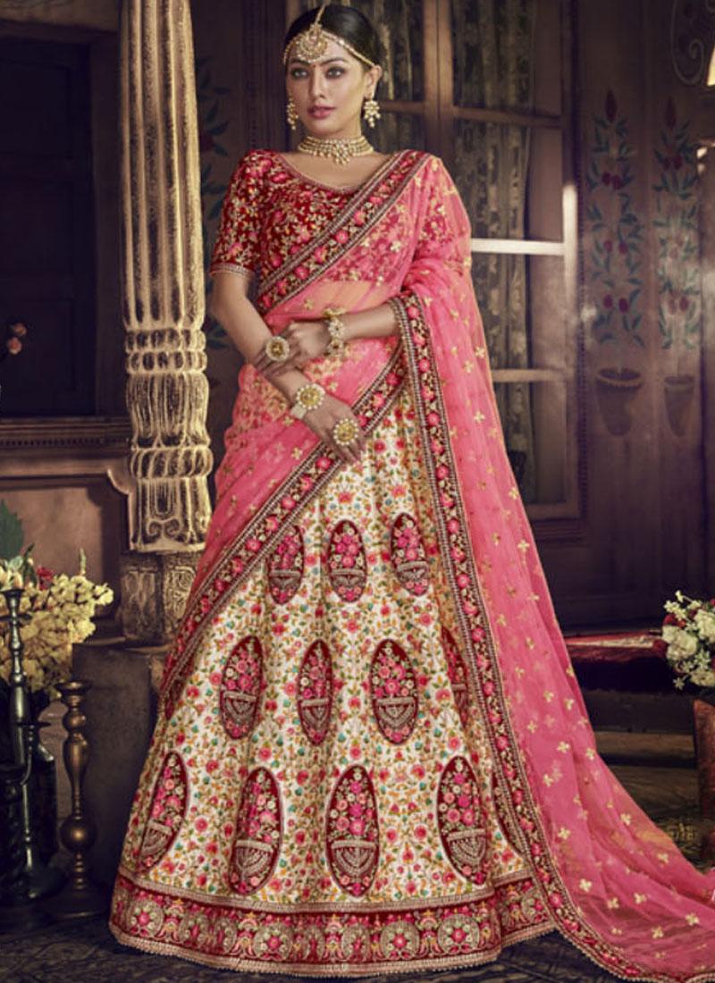 87202607f7 Sophisticated Art Silk Bridal Lehenga Choli. Hover to zoom