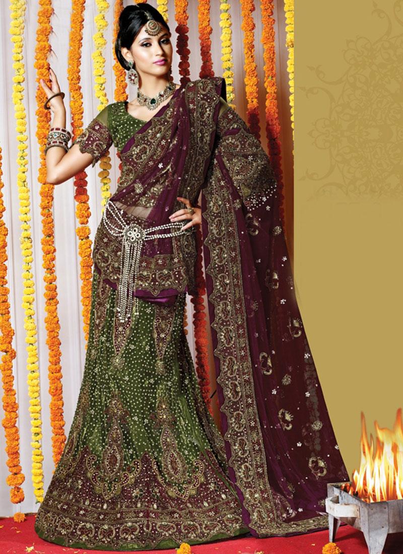 Specialised Net Febric Fancy Bridal Lehenga Ch