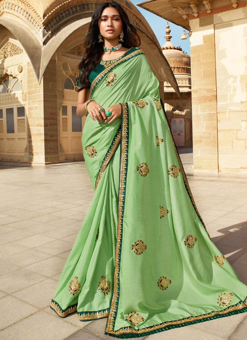 Spectacular Silk Sangeet Classic Saree