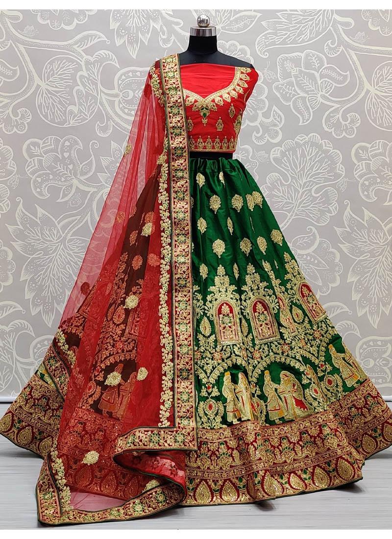 Spectacular Velvet Patch And Lace Work Panetar Style Bridal Lehenga Choli