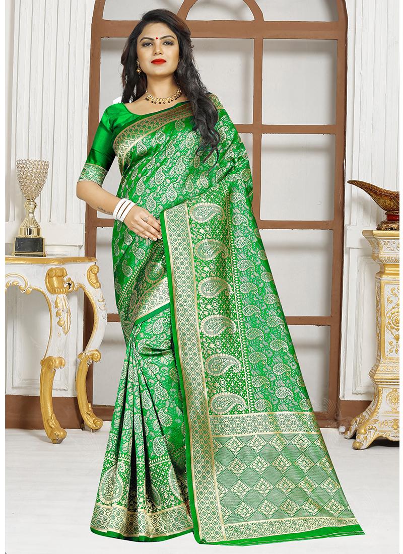 Staring Sea Green Designer Traditional Saree