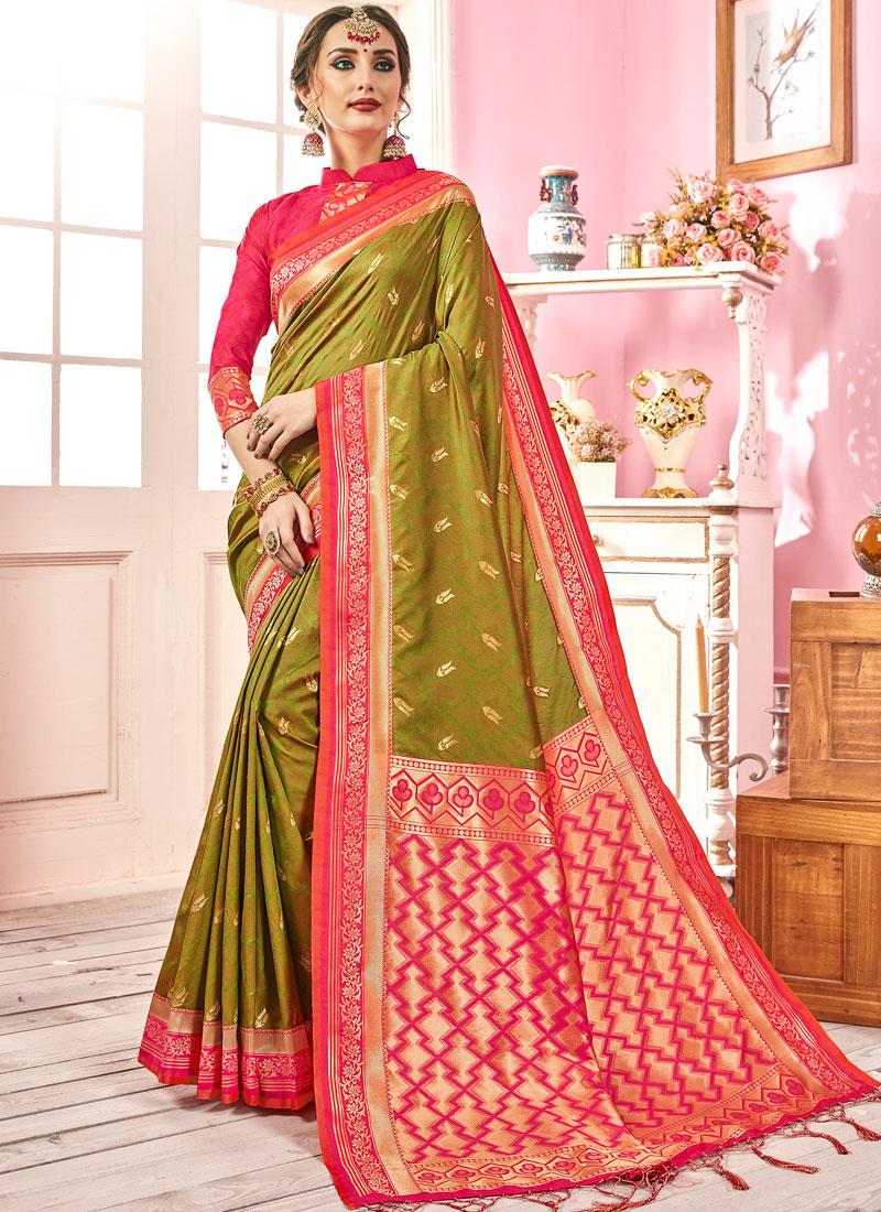 Strange Weaving Art Silk Traditional Designer Saree