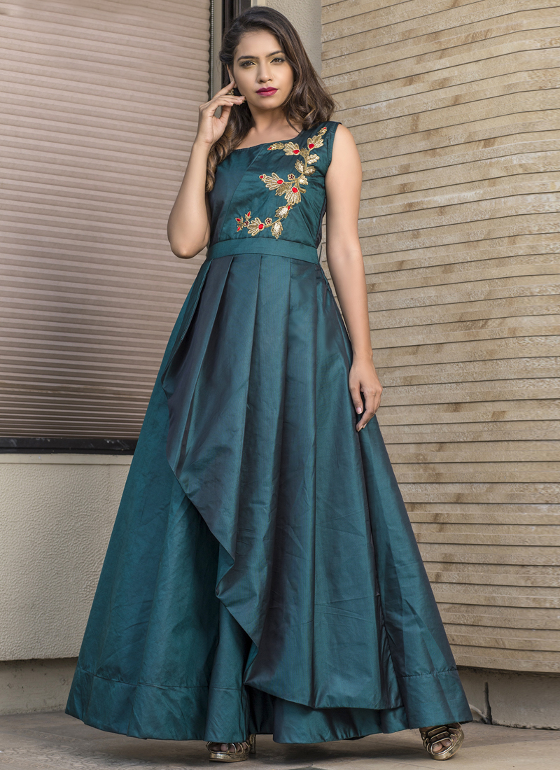 Stunning Embroidered Readymade Gown
