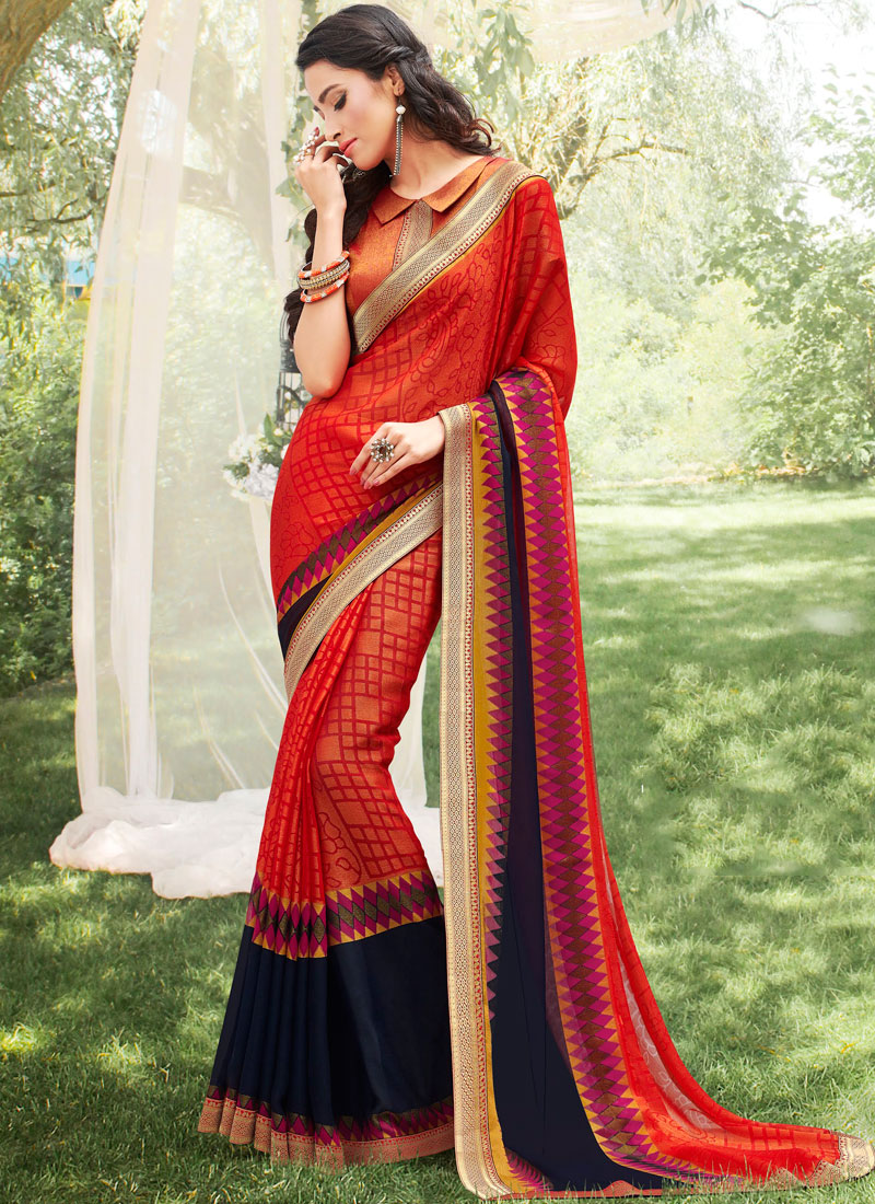 Stupendous Multi Colour Abstract Print Printed Saree