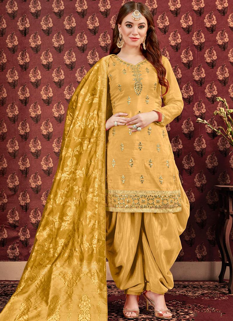 Yellow Designer Punjabi Patiala Suit