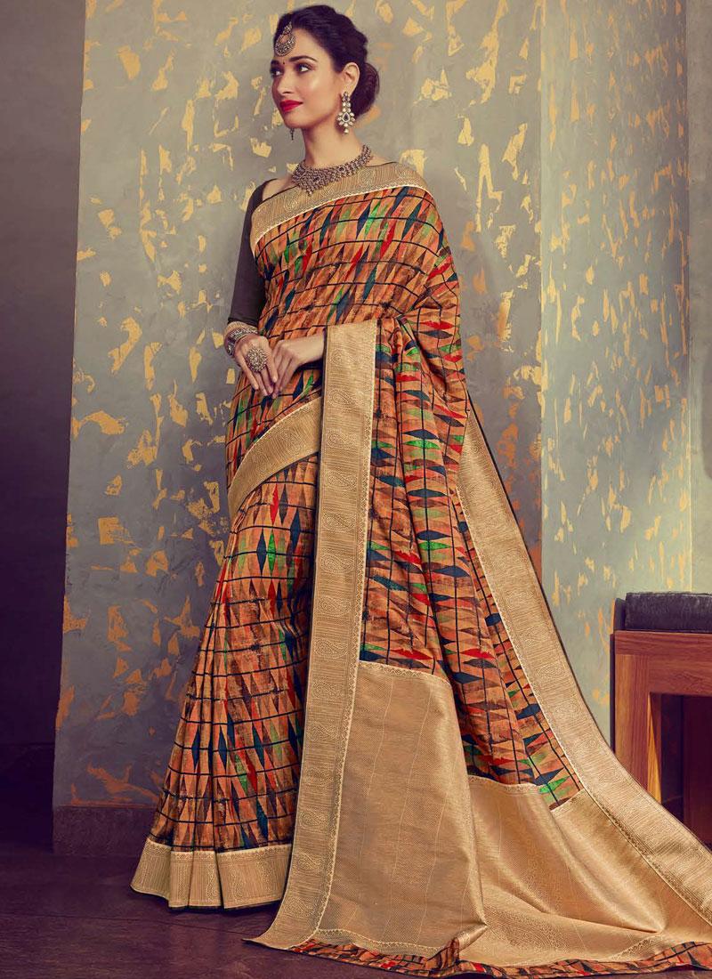 Tamannaah Bhatia Art Silk Multi Colour Traditional Saree