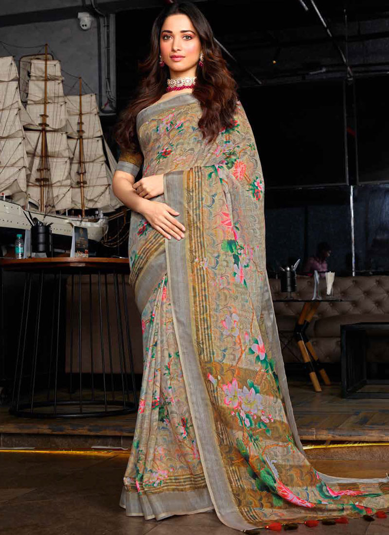 Tamannaah Bhatia Cotton Multi Colour Printed Saree