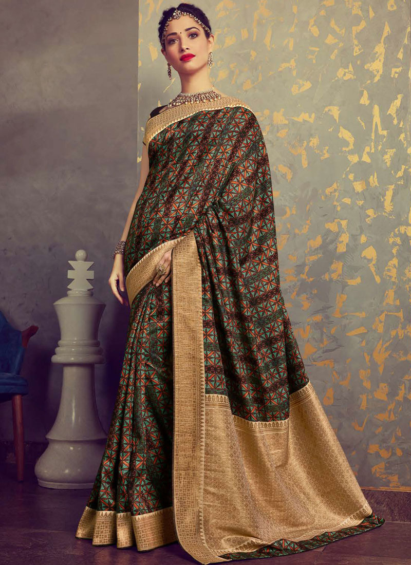 Tamannaah Bhatia Multi Colour Art Silk Traditional Designer Saree