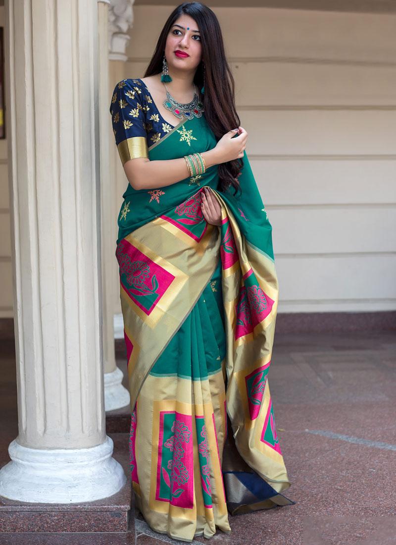 Tantalizing Art Silk Weaving Designer Traditional Saree