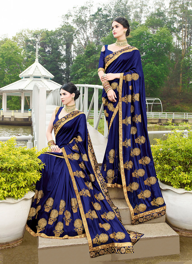 Thrilling Art Silk Patch Border Designer Traditional Saree