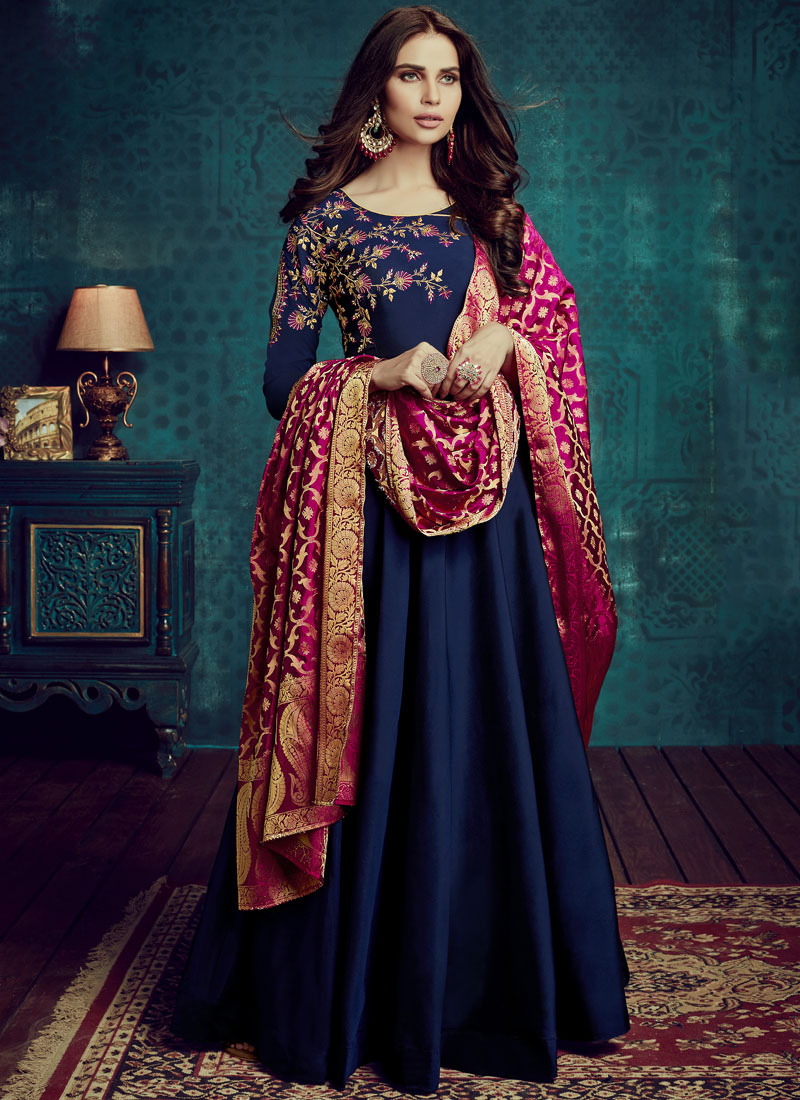 Tiptop Tafeta Silk Readymade Anarkali Suit