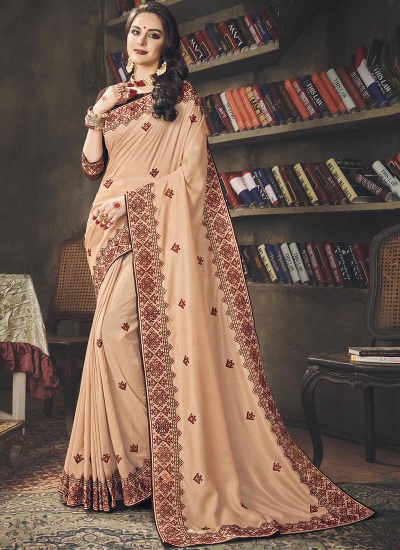 Transcendent Art Silk Sangeet Designer Saree