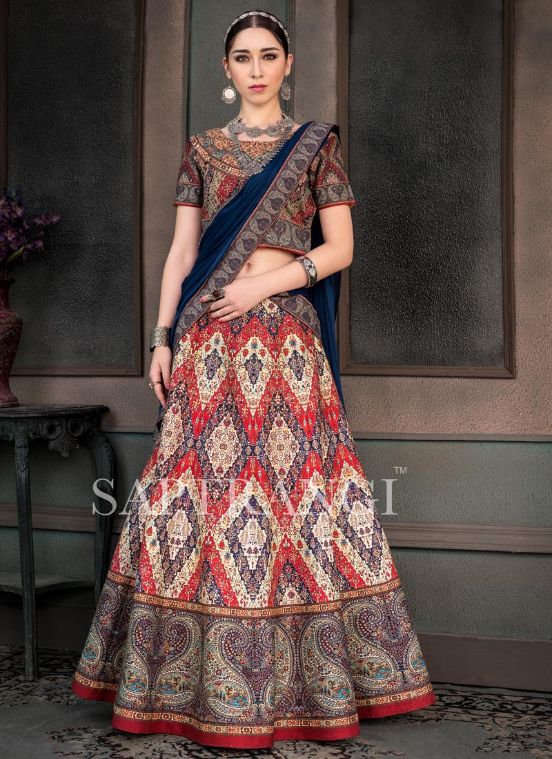 Vibrant Embroidered Fancy Fabric Lehenga Choli