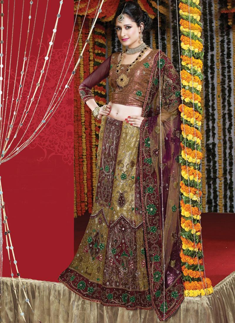 Voguish Net Wedding Bridal Lehenga Choli