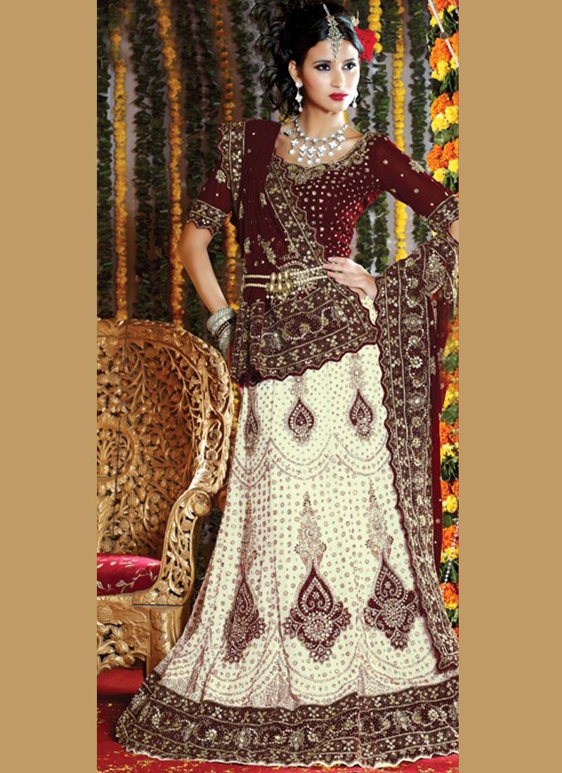 White Fancy Wedding Handwork Lehenga Choli