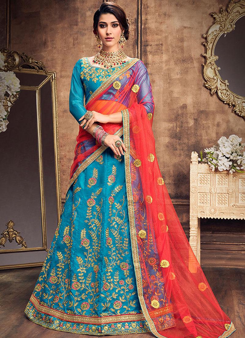 Winsome Lace Art Silk Lehenga Choli