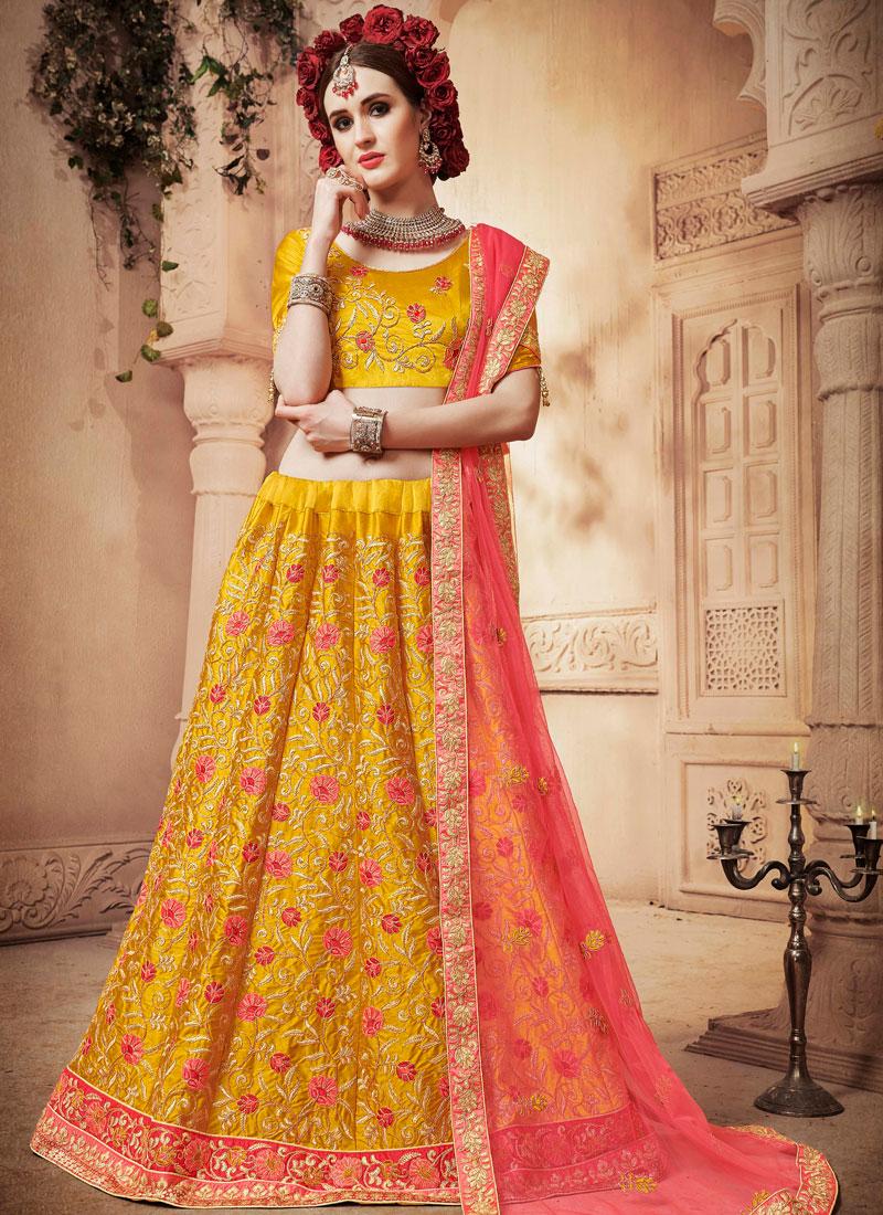 Yellow Diamond Designer Lehenga Choli
